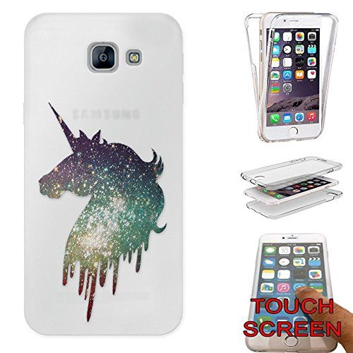 e67c1961afa Amazon.com: c01332 - Sparkle Cool Fun Unicorn Cute Design Samsung Galaxy J3  Prime/ J3 (2017) CASE Gel Silicone Complete 360 Degrees Protection Case  Cover: ...
