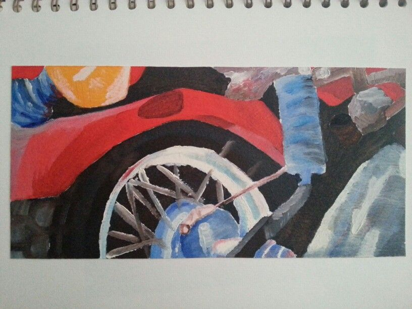 Oil painting - part honda