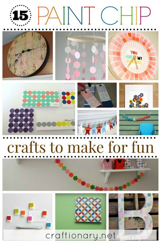 15 Paint Chip Crafts To Make For Fun Paintchips Paint Chip