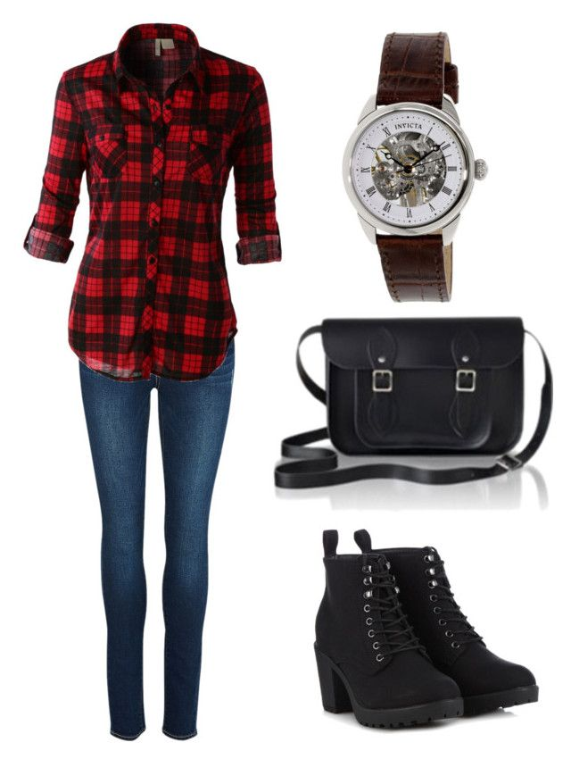 """#10"" by beth-angus on Polyvore featuring Paige Denim, LE3NO, Call it SPRING, The Cambridge Satchel Company and Invicta"