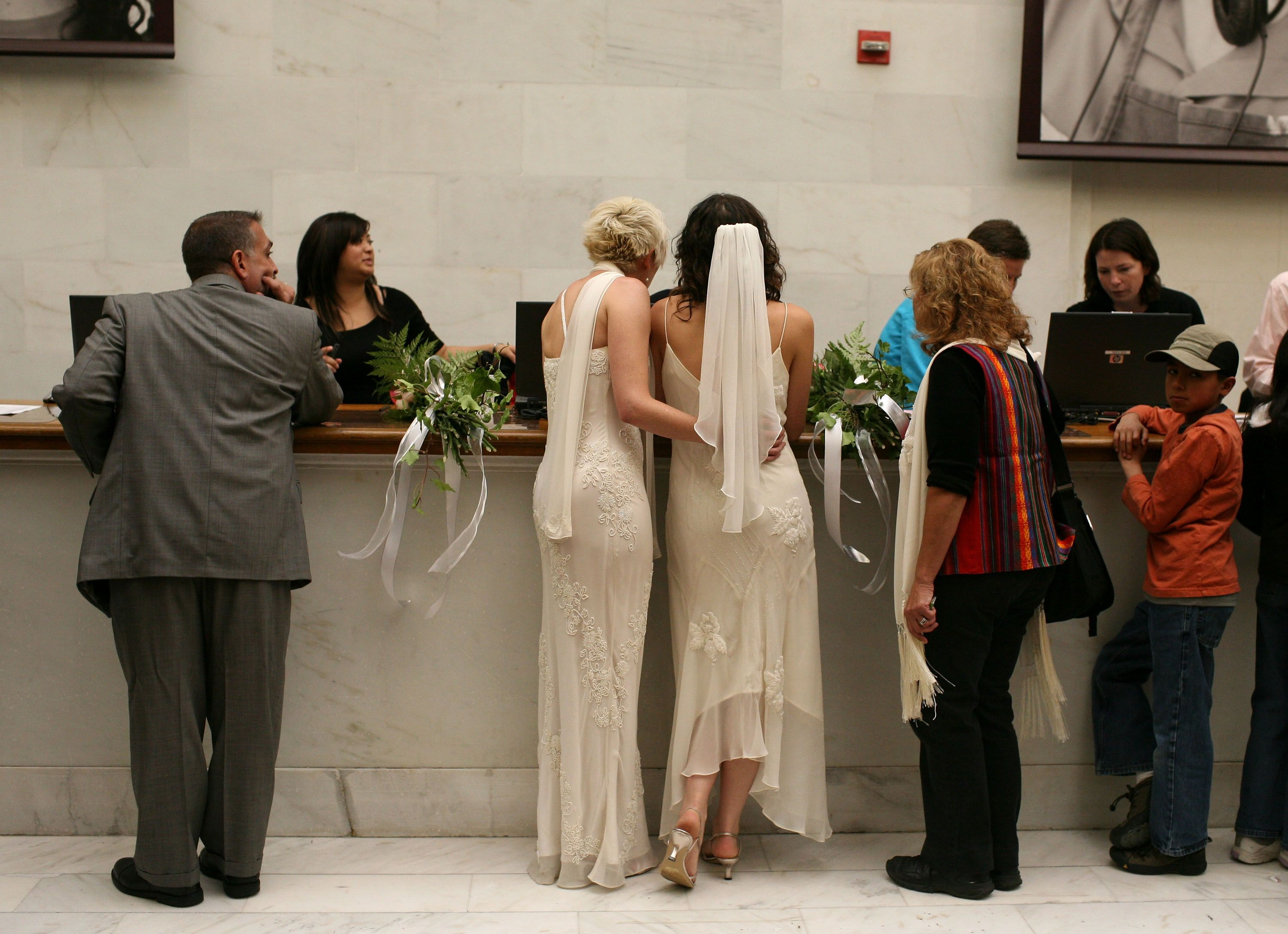 Gay marriages in california
