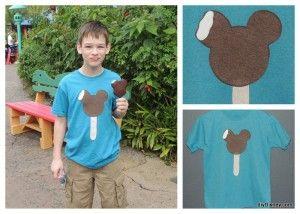 diyDisney Applique T-Shirt Tutorial Ice Cream Bar Collage