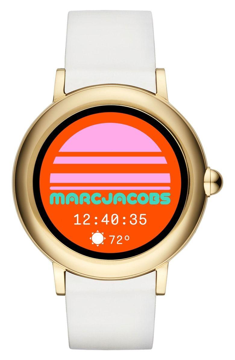 Marc Jacobs Riley Silcone Strap Smart Watch 44mm Nordstrom Smart Watch Marc Jacobs Rose Gold Apple Watch