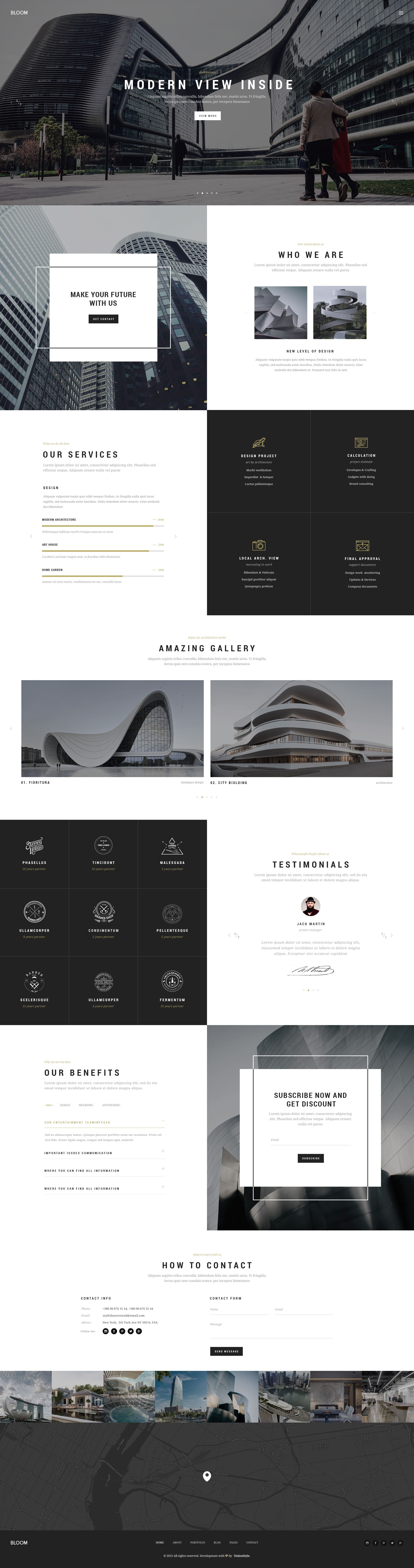 bloom - multi purpose design / architecture / interior / portfolio, Presentation templates