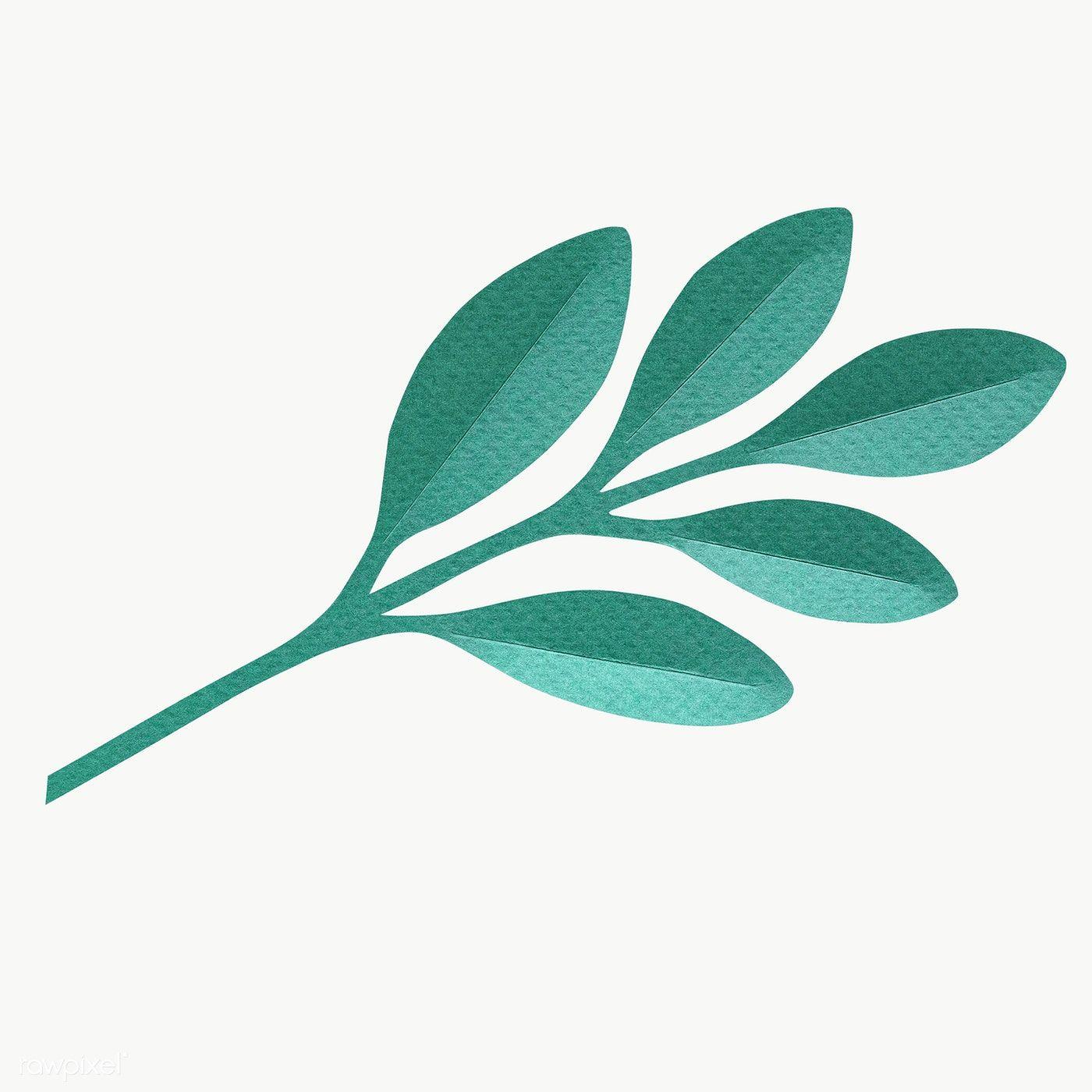 Download Premium Of Green Leaf Paper Craft Transparent