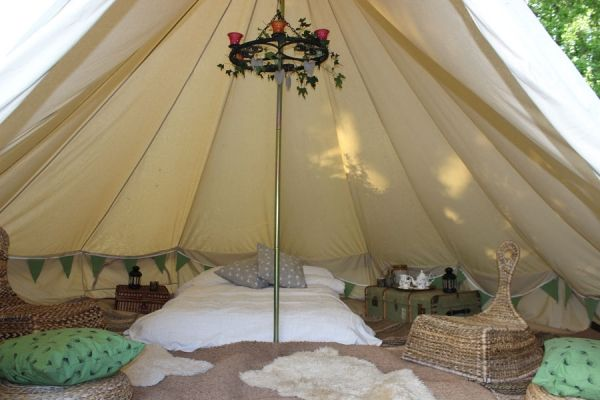 Luxury Bell Tent Weekend Breaks at Dotu0027s C&ing & 1 5m-bell-tent-interior | Camping | Pinterest | Tents Interiors ...