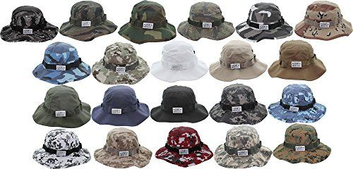 Discounted Army Universe Tactical Boonie Hat Military Camo Bucket Wide Brim  Sun Fishing Bush Booney Cap with Pin  Apparel  Appare… 071ed00ad82