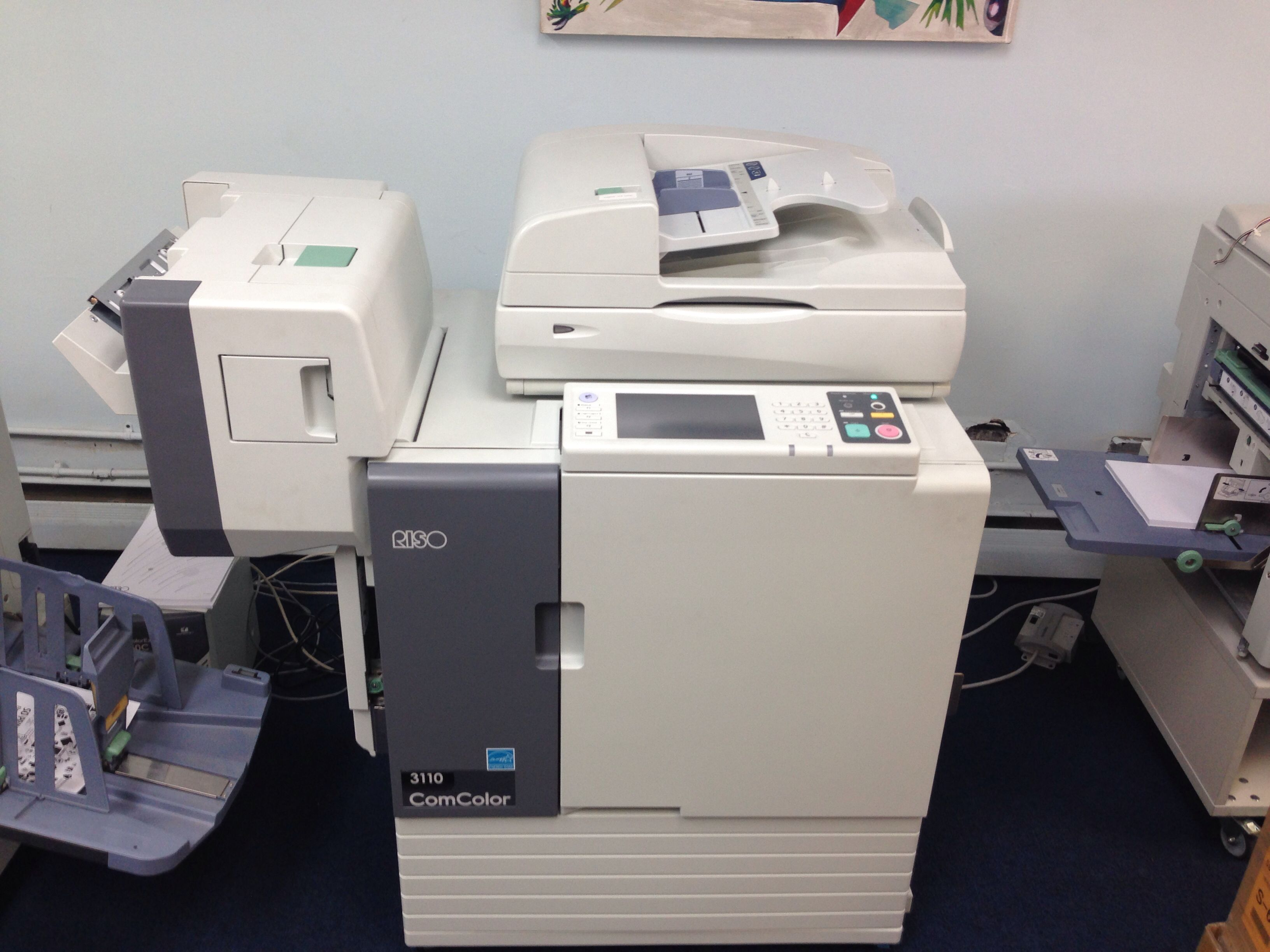 Comcolor 3110 With Stapler Finisher Riso Equipment In 2018 Kertas Foto E Print Double Side Matte A3 220 Gsm