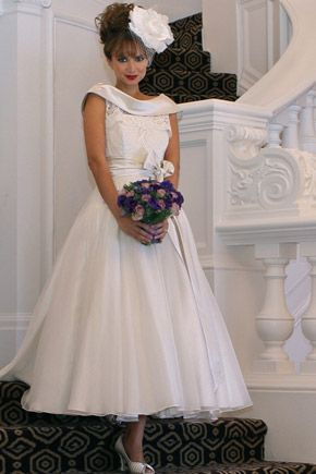 Cute Tea Length Wedding Dress Tea Length Wedding Dress Vintage Style Wedding Dresses Ballerina Wedding Dress