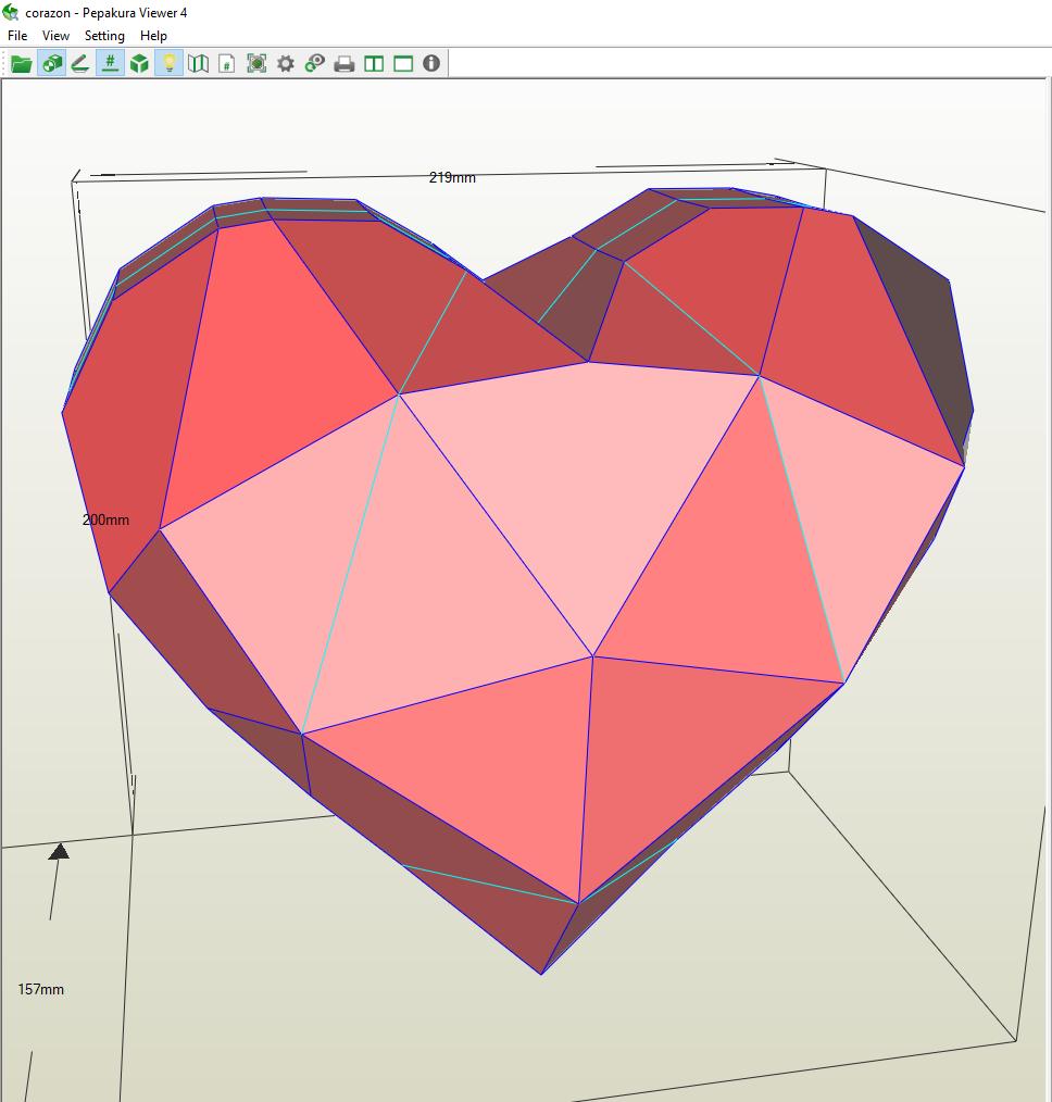 Corazon Papercraft Corazones Disenos De Pizarra Arte Geometrico