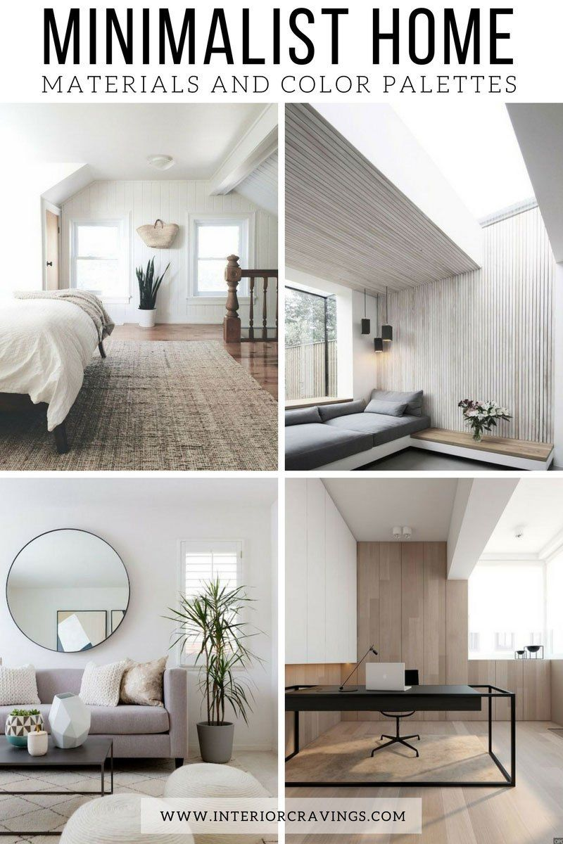 MINIMALIST HOME ESSENTIALS: MATERIALS AND COLOR PALETTE | Home ...