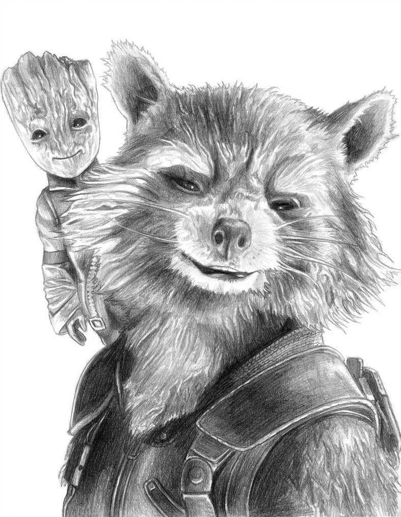 Rocket and Baby Groot (Guardians of the Galaxy 2) by ...