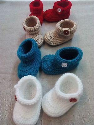 3818cb3e318 zapatos bebe crochet 0-3 meses diferentes colores botines patucos calzado
