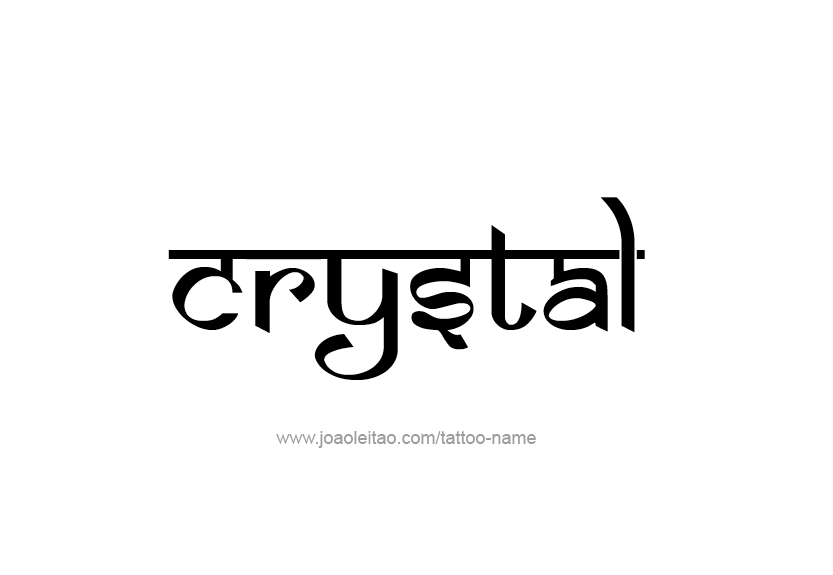 Crystal Name Tattoo Designs Name Tattoos Crystal Names Tattoo Designs
