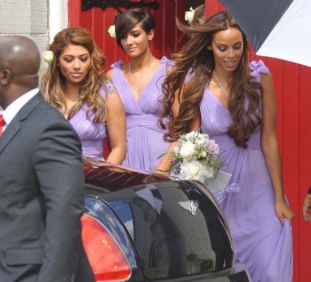 Una Healy And Ben Foden Wedding Vanessa Frankie Rochelle From The Saays Emerge