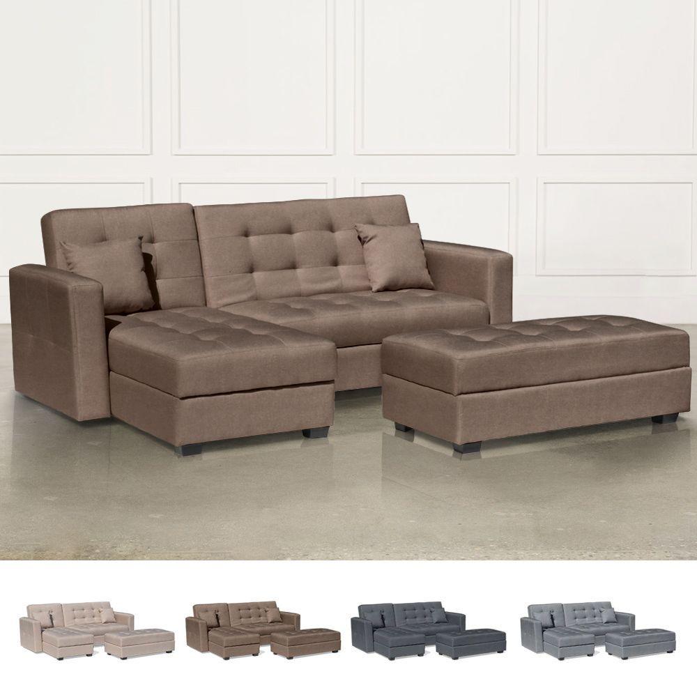 Fabulous Corner Sofa Bed With Ample Footstool 3 Seats Madreperla Frankydiablos Diy Chair Ideas Frankydiabloscom