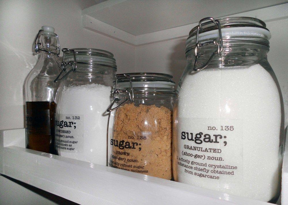 Check the label ikea jars diy storage labels pantry labels