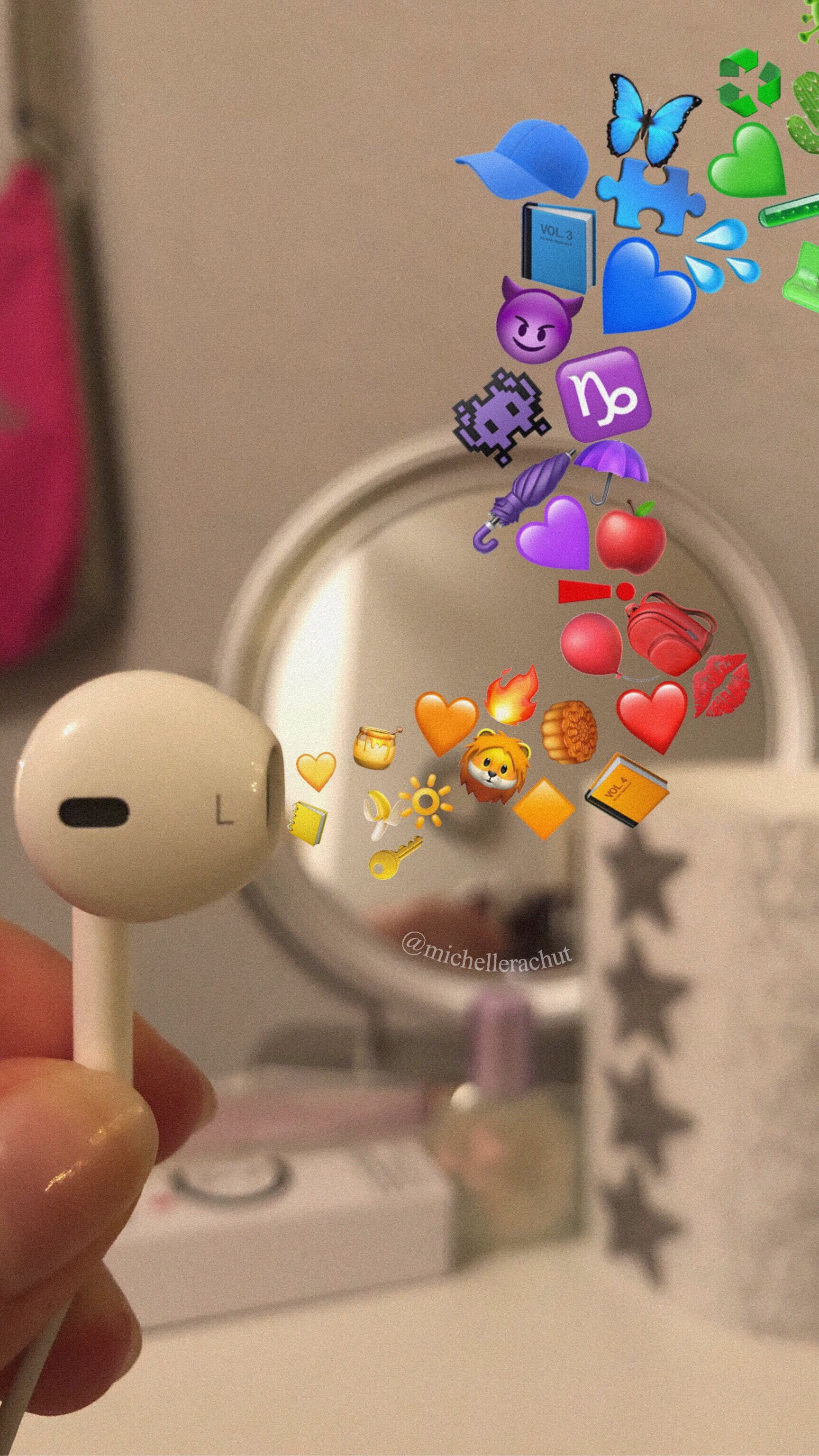 Emoji Headphones Iphone Headphones Tumblr Headphones By Michellerachut Fond D Ecran Telephone Fond D Ecran Emoji Iphone Idees Snapchat