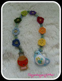 Regenbogenglitter Schnullerkette Baby Pinterest Schnuller