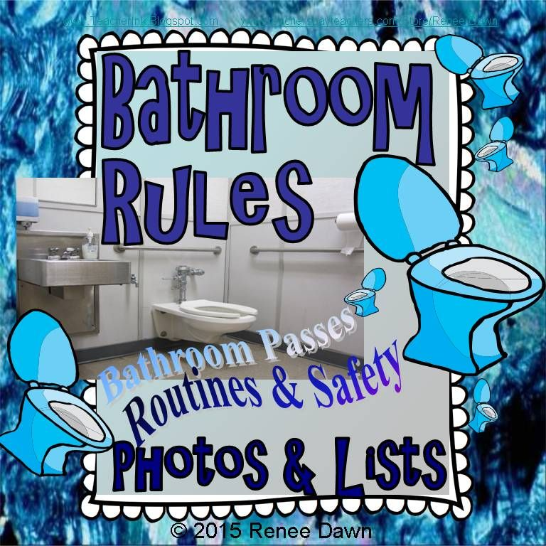 Bathroom rules classroom student centered resources and for Bathroom signs for classroom