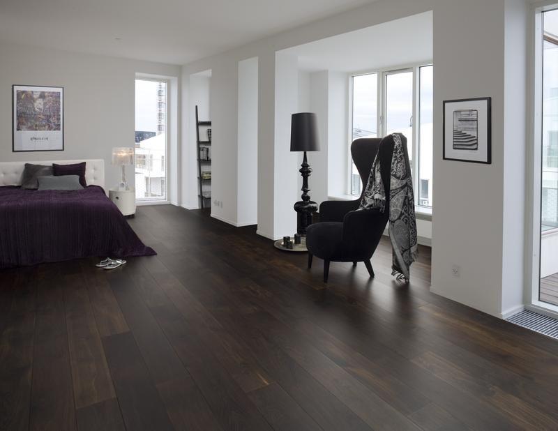 Amerikaans eiken vloer donker gemaakt dark flooring solid wood