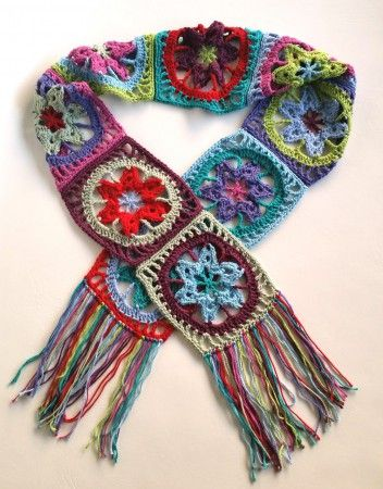 Stash Busting Crochet Scarf Tutorial | Echarpes, golas, colares ...