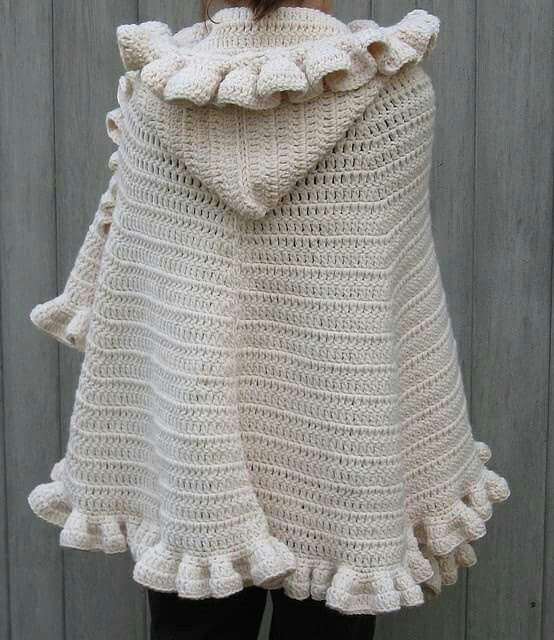 Pin de angela marcellino en capes | Pinterest | Chal de ganchillo ...