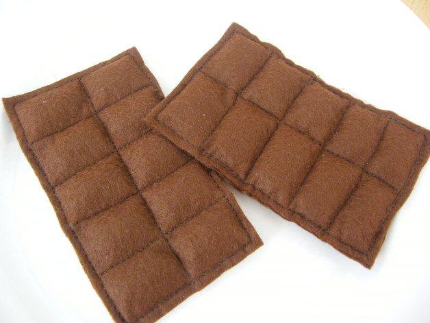 schokolade aus filz f r die kinderk che in einer. Black Bedroom Furniture Sets. Home Design Ideas