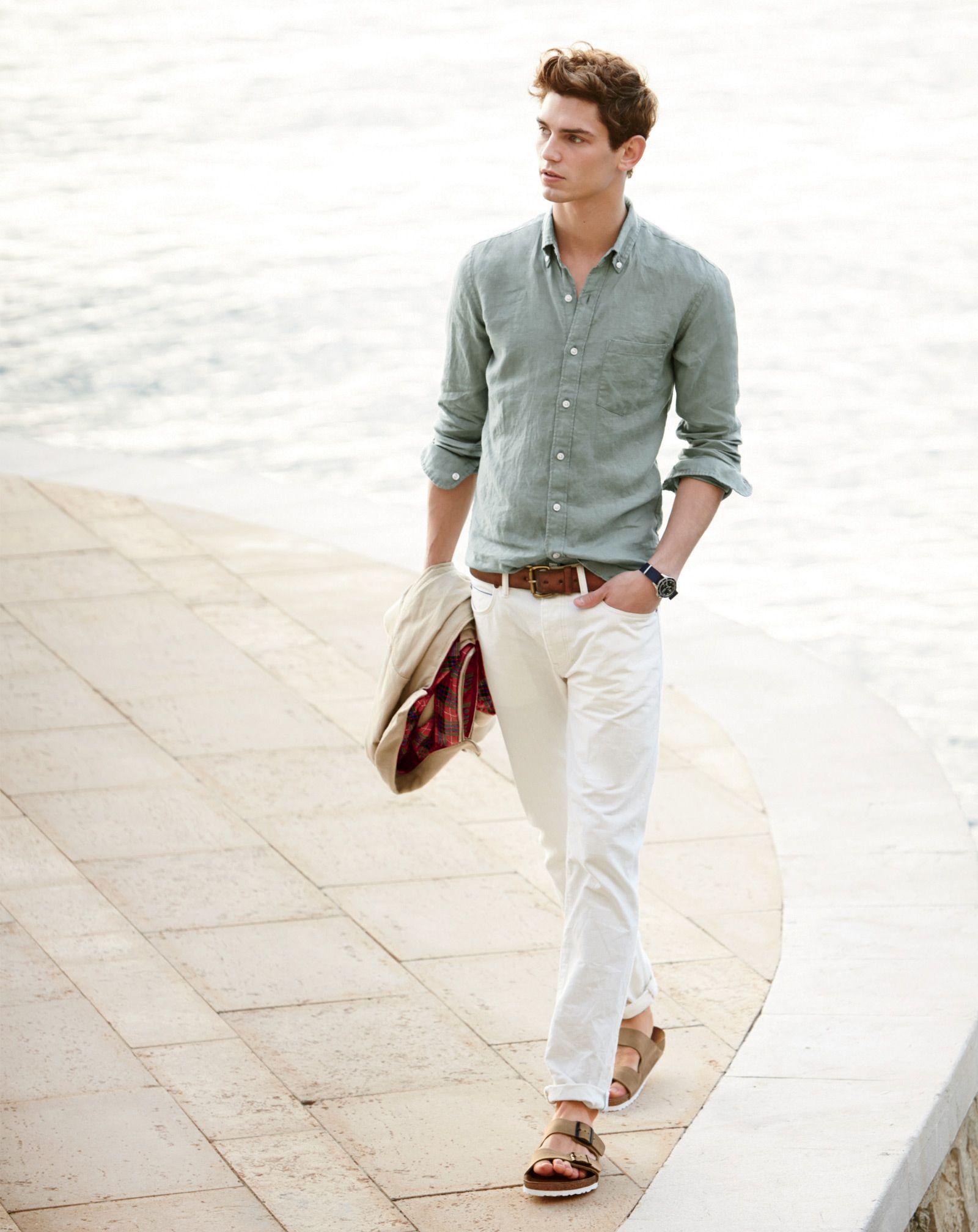 J.Crew men s slim Irish linen shirt 32a11868af1