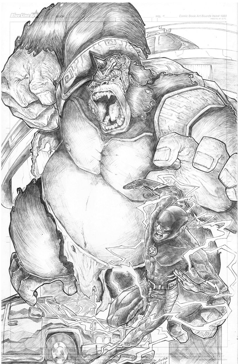 The Flash Vs Gorilla Grodd By Bonkz Seriosa Comic Book Heroes Comic Books Art Comic Character