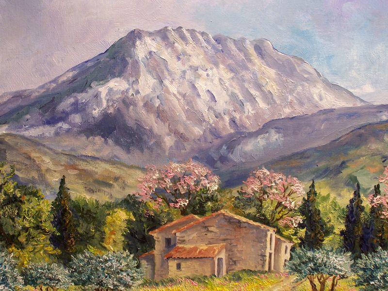 Sainte Victoire Peinture Paysage Peintre Paysagiste Peintures