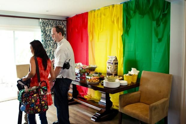 Drapes Behind Cake Table Our Wedding In 2019 Jamaican Party