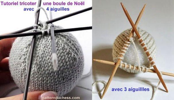 Tricoter des boules de no l mod les et tutos boule no l - Decoration boule de noel en polystyrene ...