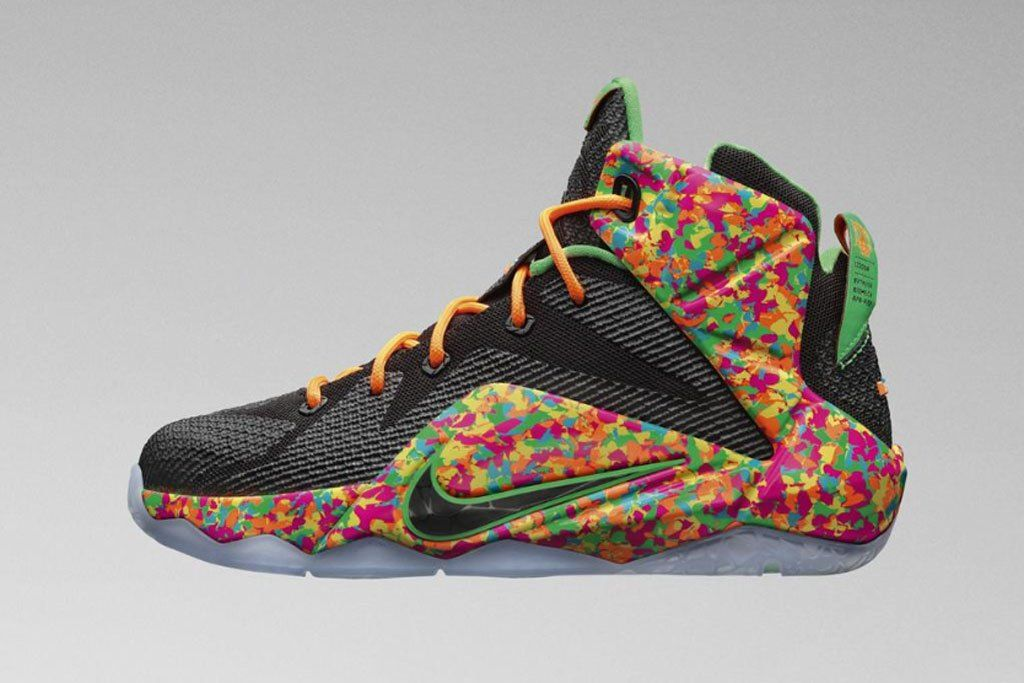 aadd6e4f7dd ... clearance the nike lebron 12 gs fruity pebbles is the nest kids  exclusive sneaker to release