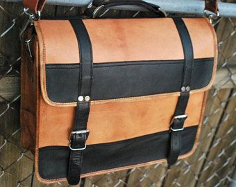 Leather Messenger Bag Briefcase Personalized Men S