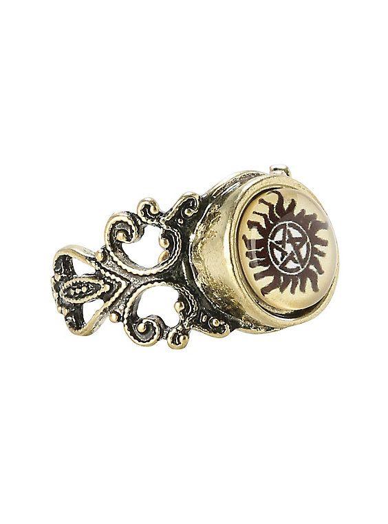 Supernatural Anti-Possession Symbol Ring, YAAAAAAAAS