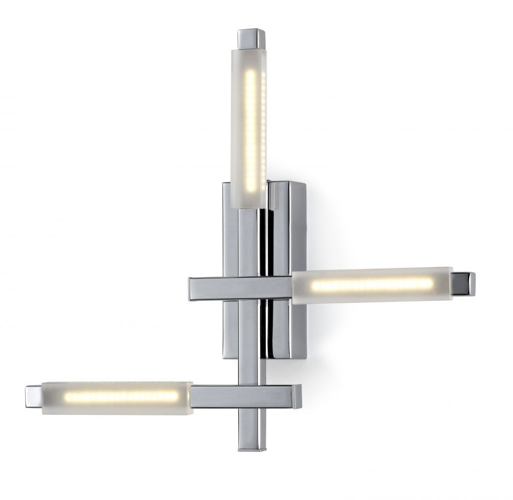 Applique Naire LED chrome