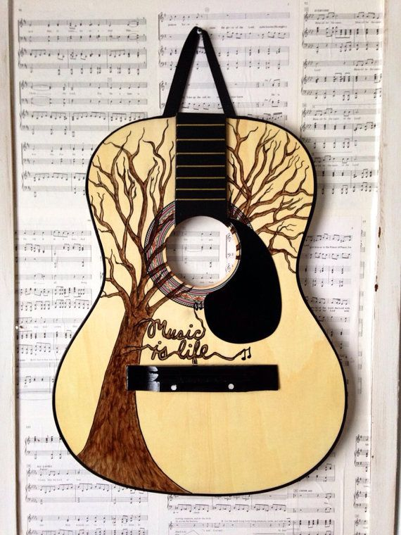 Repurposed Guitar Wall Hanging Music Is Life Painting Things For