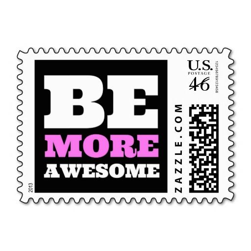 Be More Awesome (Pink) Postage Stamps