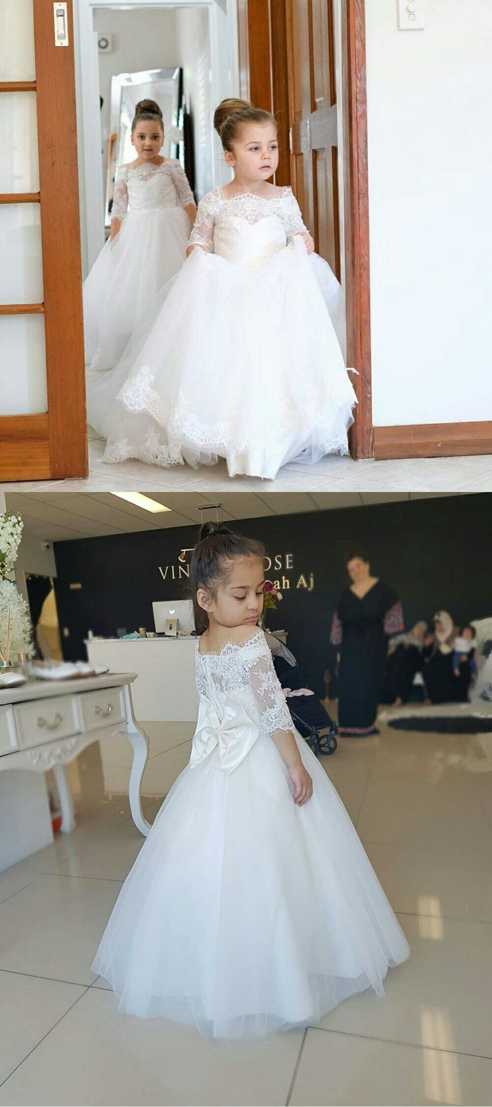 White tulle off the shoulder princess kidus wedding gowns with half