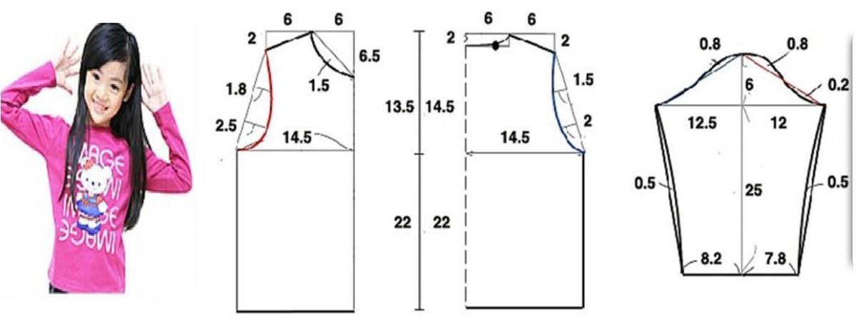 Resultado de imagen para patrones de polos manga larga para niñas ...