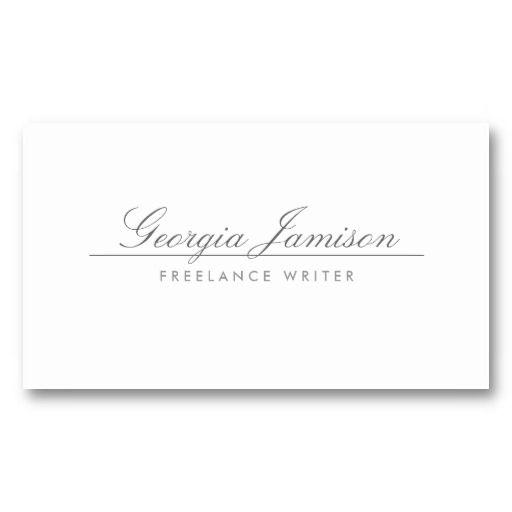 Elegant Name On White Designer Business Card Zazzle Com Elegant Names Business Card Design White Business Card