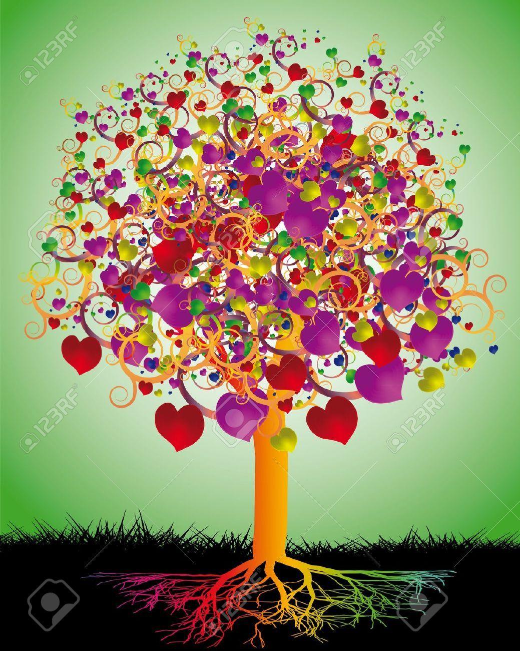 albero della vita disegno colorato