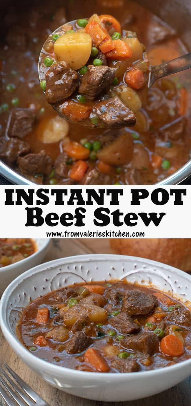 Tender beef, perfectly cooked vegetables, and a flavor-packed sauce. This Instant Pot Beef Stew is quick and easy enough to make any day of the week! #instantpot #instantpotrecipes #beefstew #pressurecooking #pressurecooker #beef