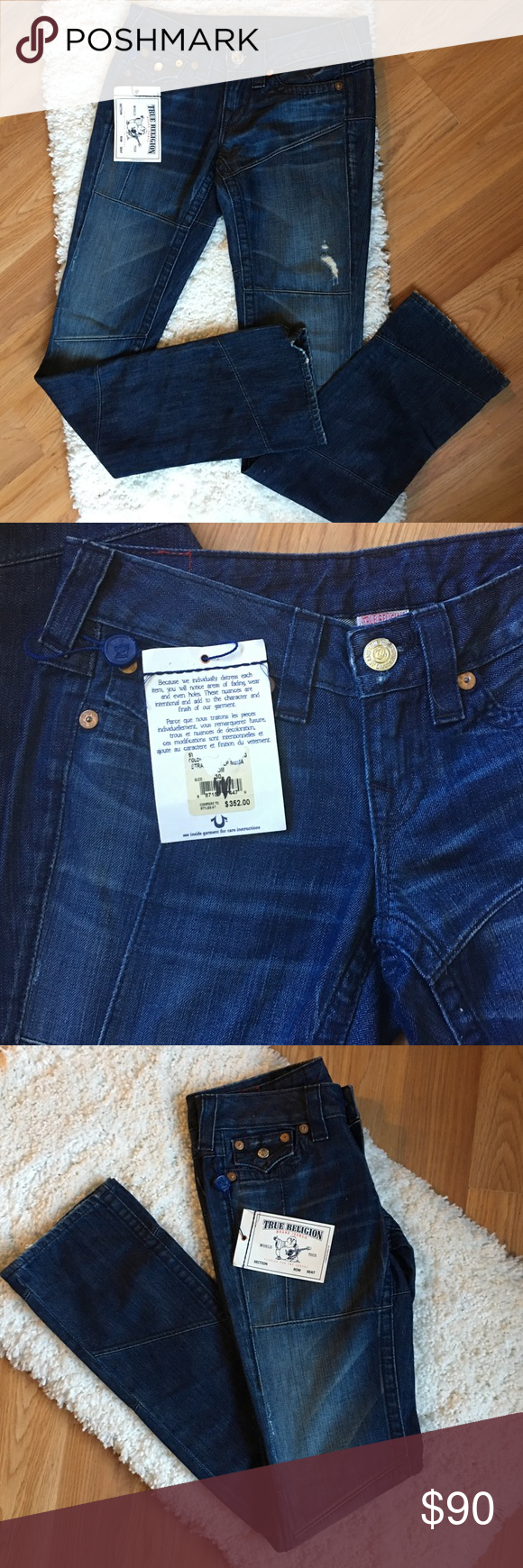 "NWT True Religion Straight Leg Jeans Brand new with tags! Inseam is 34"". True Religion Jeans Straight Leg"