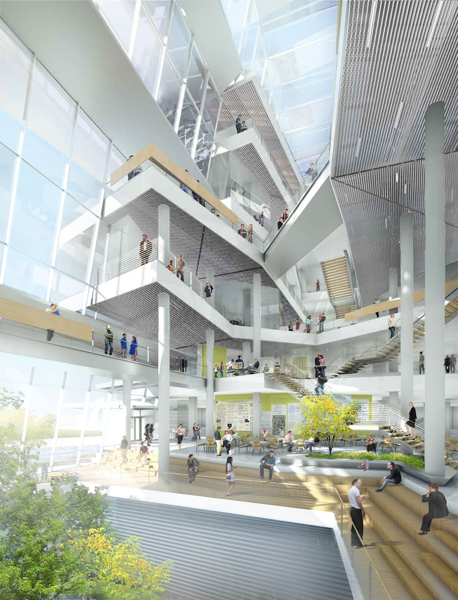 Image Behnisch Architekten Harvard University School Of Engineering Lied Science Education
