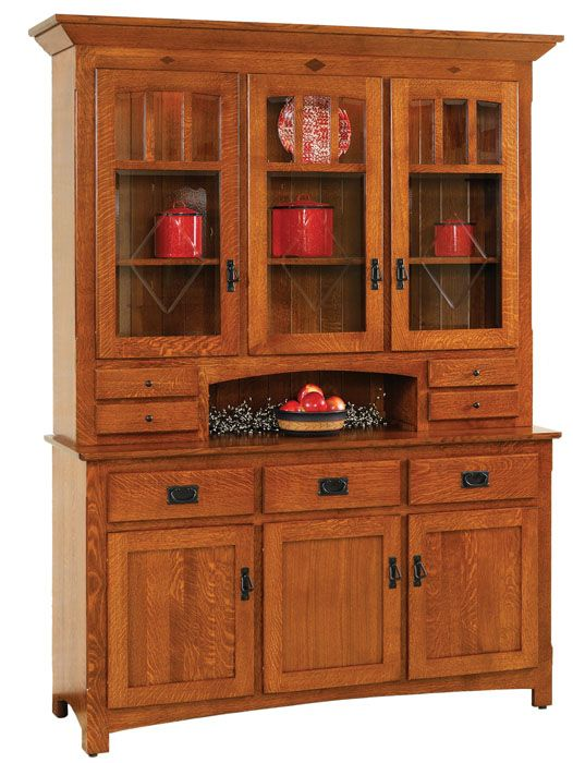 Amish 3 Door Century Mission Hutch Base Price 206000 FurnitureAmish FurnitureDining RoomsDining