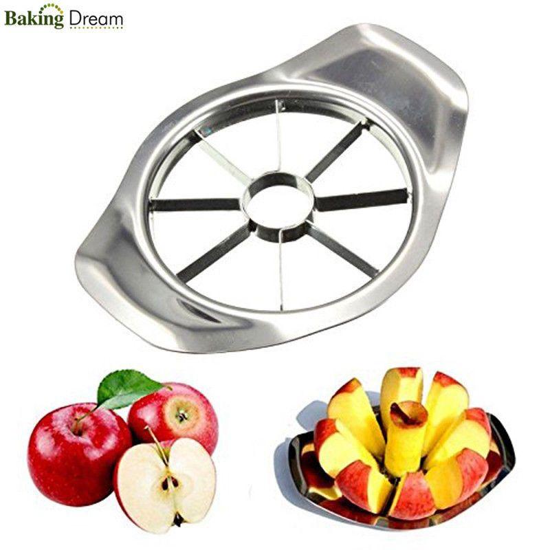 Stainless Steel Fruit Apple Pear Easy Cut Slicer Cutter Corer Divider Peeler New