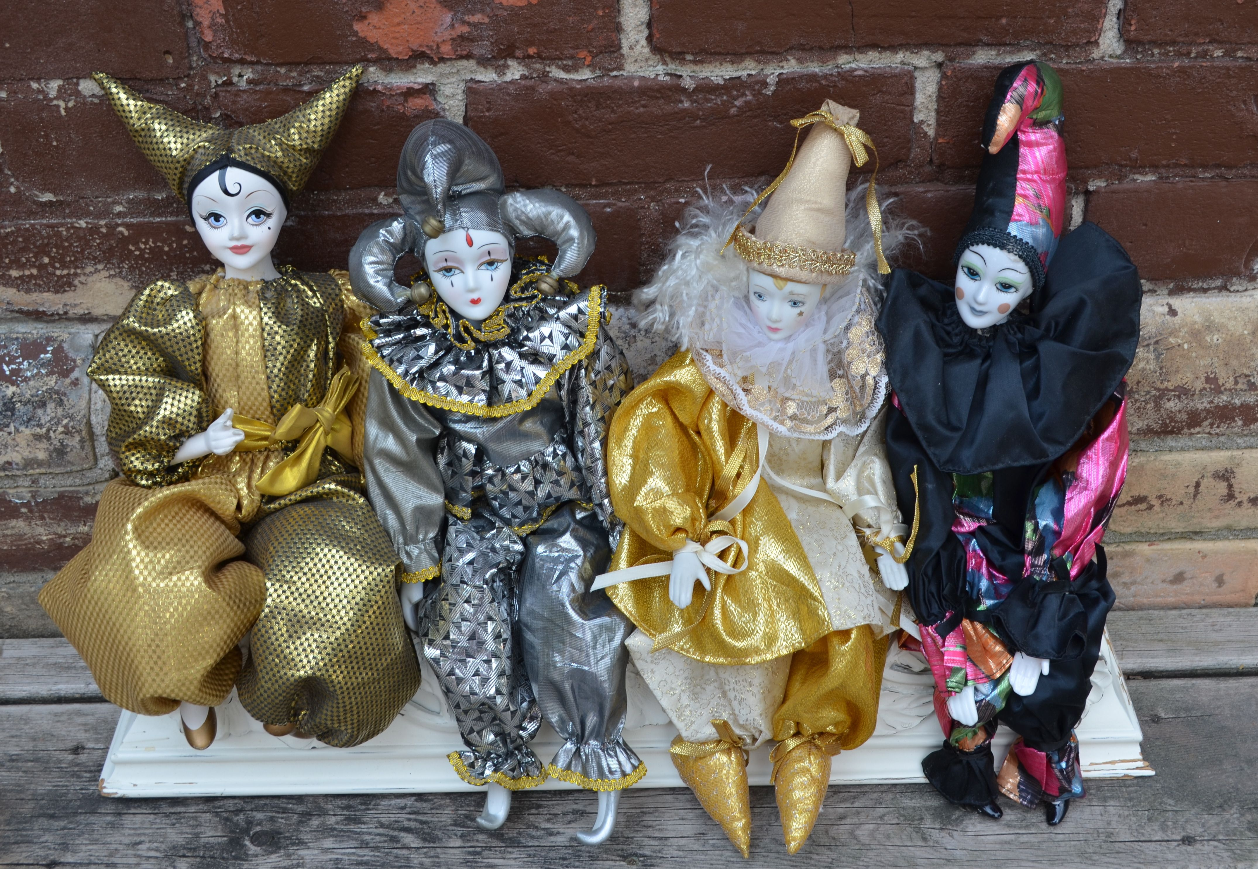 Jester/Harlequin dolls $15 for all (With images) | Jester ...