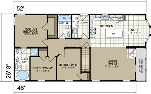Maine Modular Home Floor Plans Estate Modular A95281 Ranch – Modular Home Ranch Floor Plans